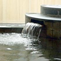 ★【湯口】疲れた体に温泉成分が沁み渡ります…