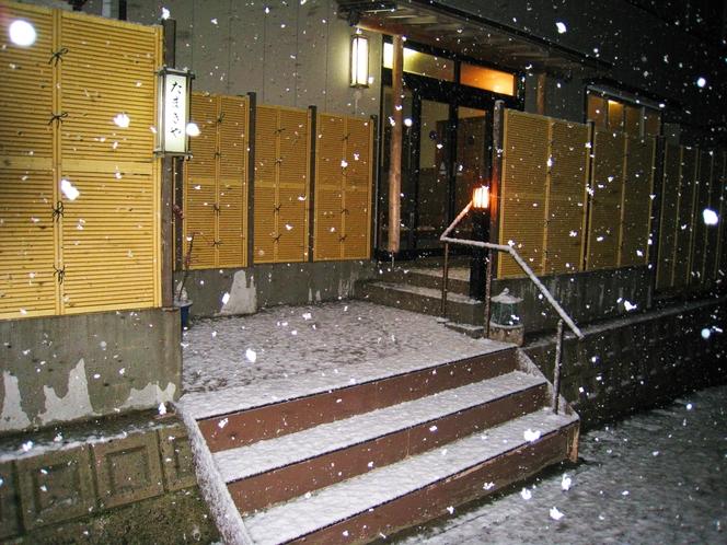 玄関★冬景色