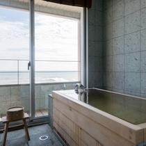 「袖ヶ浦」和室8帖+リビングダイニング10帖+ツインベッド+テラス+半露天風呂 85㎡