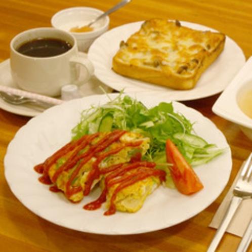 ある日の朝食(クロックムッシュ&スペイン風オムレツ)
