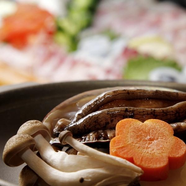 アワビ踊り焼き◆歯ごたえと凝縮されたうま味が魅力の高級食材をご堪能下さい。