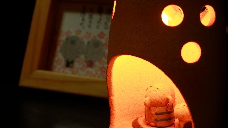 和モダン空間を演出する置物などもお客様をおもてなし致します!ぜひ、ご覧になって、お楽しみ下さい。