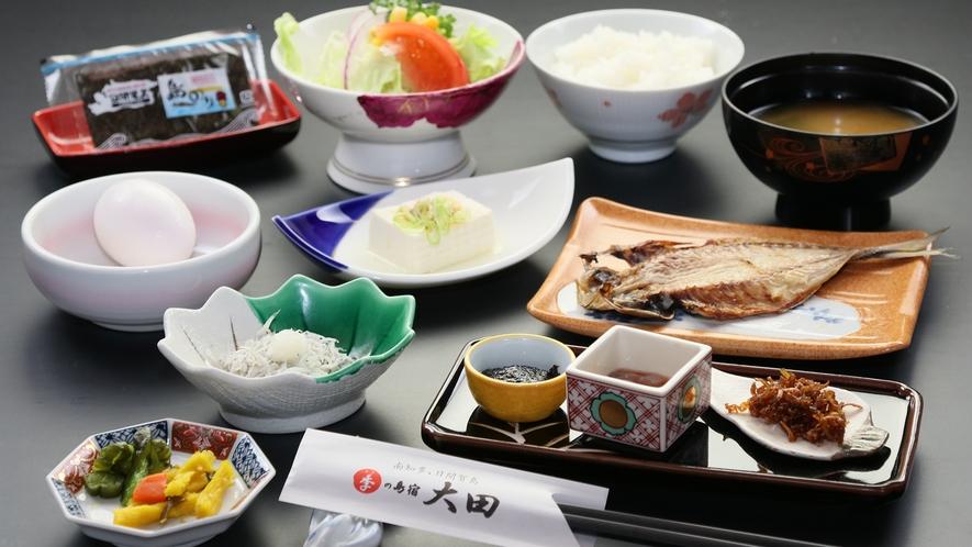 朝食◆海の島ならではのあたたかなお食事で、ご飯が進む副菜を沢山ご用意しておりますので、ご賞味下さい