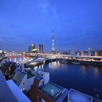 屋上から見る夜景
