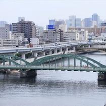 隅田川のすぐそばにある当ホテル
