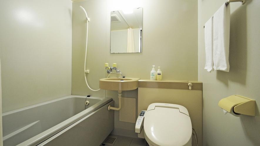 【客室】全客室は温水シャワー洗浄付きトイレのユニットバスとなります