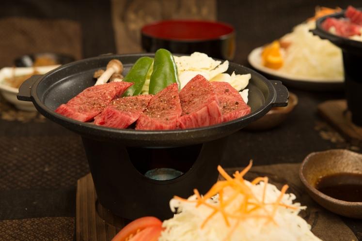 高千穂牛の陶板焼き1