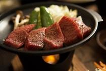 高千穂牛の陶板焼き6