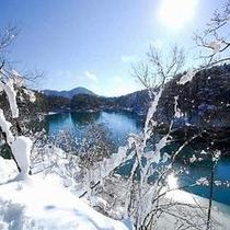 冬の毘沙門沼