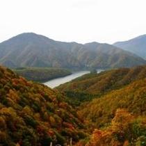 秋元湖紅葉