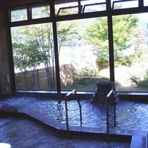 *【大浴場】パワースポット分杭峠の石を入れて沸かしたお風呂で運気アップ♪