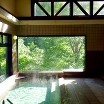 大きな窓からは豊かな自然を眺めながら白山里温泉の良湯をご堪能下さい。