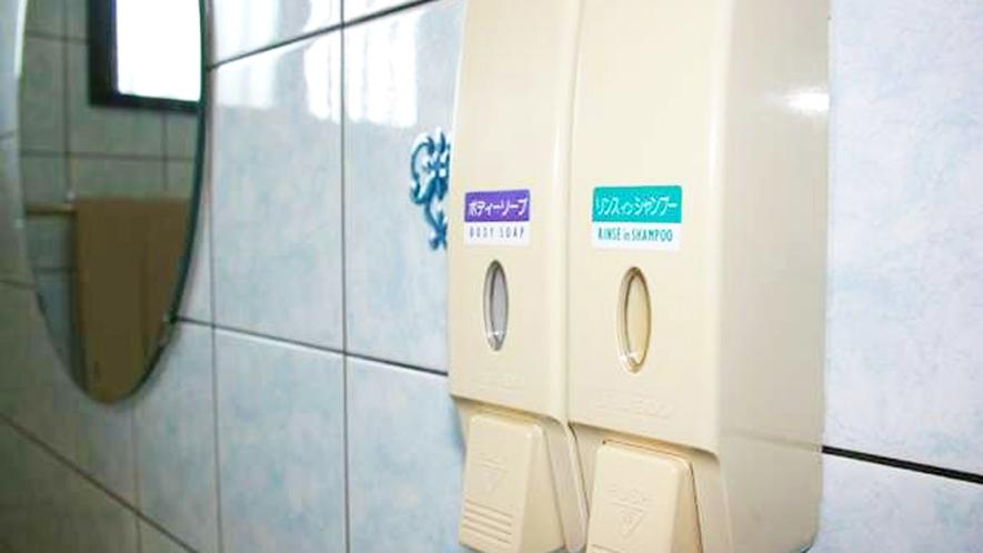*【客室一例】環境に配慮し、シャンプー・ボディソープはディスペンサーでご用意しております。