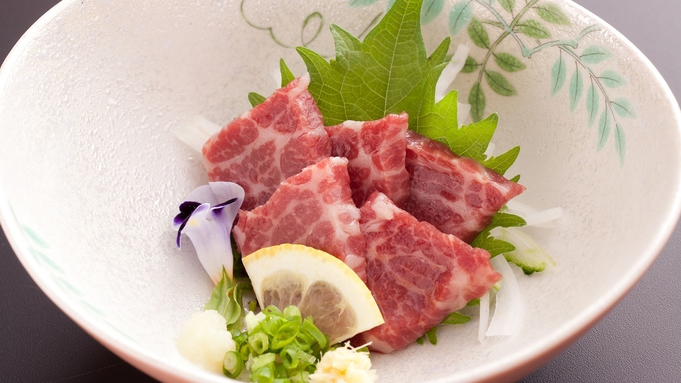 【楽天トラベルセール】【くまもと美食プラン】 馬刺しとあか牛・黒毛食べ比べ郷土料理プラン