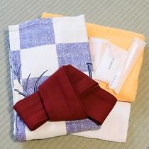 *【アメニティ】浴衣、タオル等ご用意しておりますので、最小限のお荷物でご宿泊頂けます。