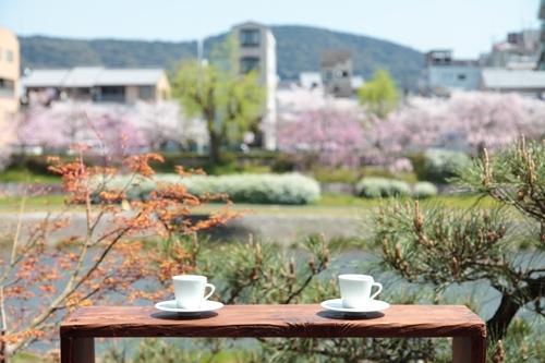 鴨川邸テラス(春)