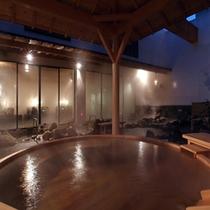 万葉の湯露天風呂