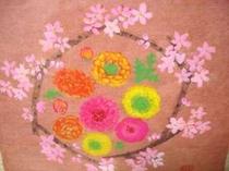 春よこい!さくらんぼの花・和紙絵