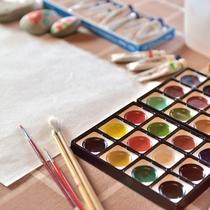 絵手紙や石ころアートなど、体験していただけます。