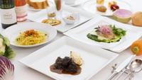 【ダブルメインのCランチ+ドリンク♪】肉&魚料理のダブルメイン★季節のパスタと2つのメイン料理が◎