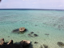 今帰仁五邸から見える沖縄の海です。