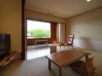 客室一例Aタイプ【和室9畳・半露天風呂付】ー『月のあかり』客室