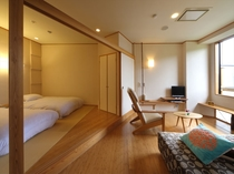 寝室4畳半+リビング6畳★内風呂付き客室★Bタイプ『水のあくび』客室