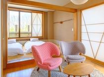 半露天風呂付き特別室『花のあめ』客室