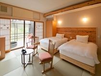 おとぎの里【1F】 露天風呂付きツインルーム客室