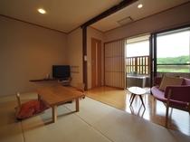 客室一例Aタイプ【和室9畳・半露天風呂付】ー『花びらひらり』客室