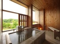 客室一例Aタイプ【和室9畳・半露天風呂付】ーお風呂