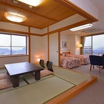 *和洋室一例/8畳の和室と洋室の広々としたお部屋。ファミリーやご夫婦にお勧めです