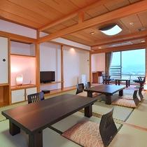 *和室14畳一例/大きな窓からは、のどかな狩野川の景色が一望できます