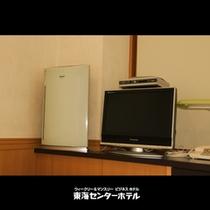 空気清浄機&液晶テレビ(禁煙ルームに設置)