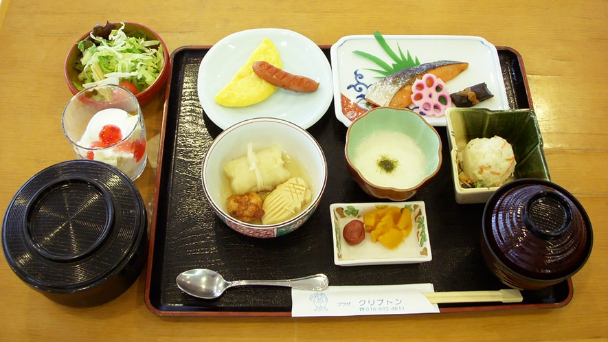 *【朝食例】豊かな自然に恵まれた秋田の味、気軽に召しあがれるメニューをご用意いたします。