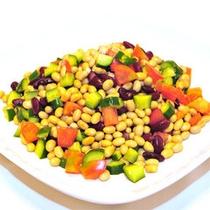 【朝食バイキングメニュー】ビーンズサラダ。大豆ほかいろいろな豆でヘルシーに!