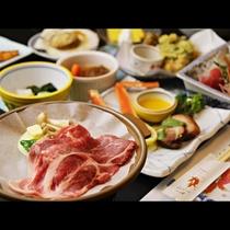 ■【お食事】ローズポークの陶板焼き