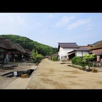 江戸時代にタイムスリップしたような大内宿の風景