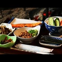 【朝食】素朴な和食はお米の美味しさが際立つ♪