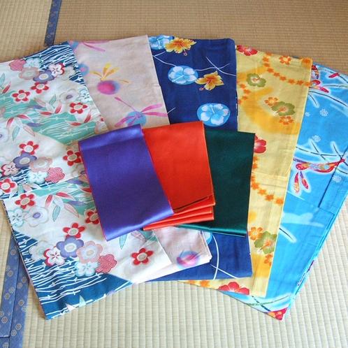 20種類以上のかわいい柄の色浴衣♪