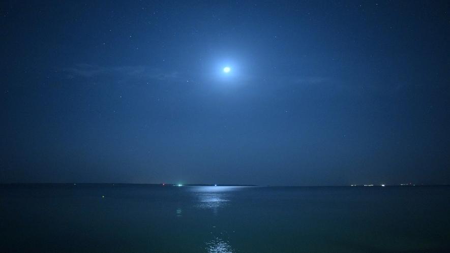 施設から見る月夜