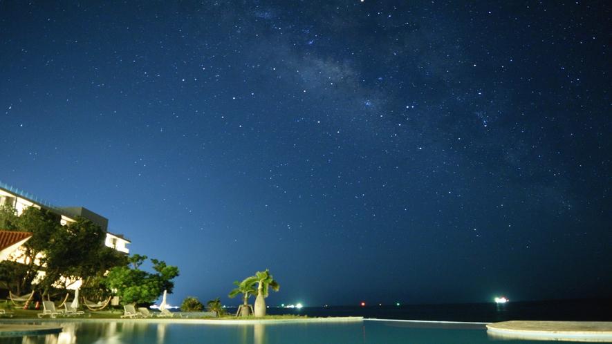 施設から見る星空