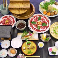 """【うり坊】当館名物""""ぼたん鍋""""豪華グレードアッププラン"""