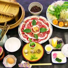 """【猪の子】当館自慢のお味噌でいただく""""ぼたん鍋"""""""