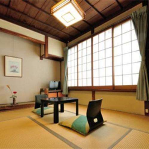 たけ 和室6畳+次の間 天井は高く、明るいお部屋です。