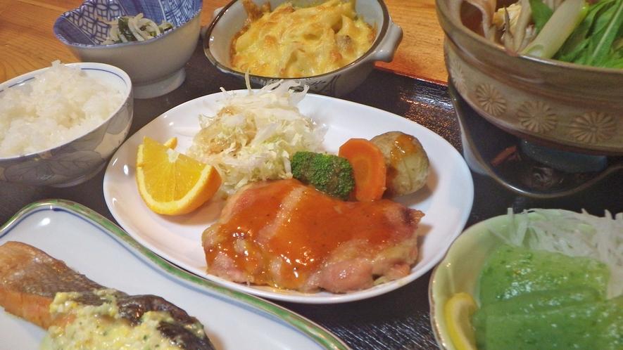 *【夕食一例】地産地消を心がけた、和食がメインです!