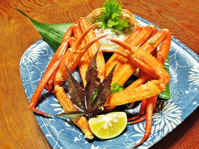 *【料理】焼き蟹一例でございます。ほくほくの焼きガニをどうぞ!