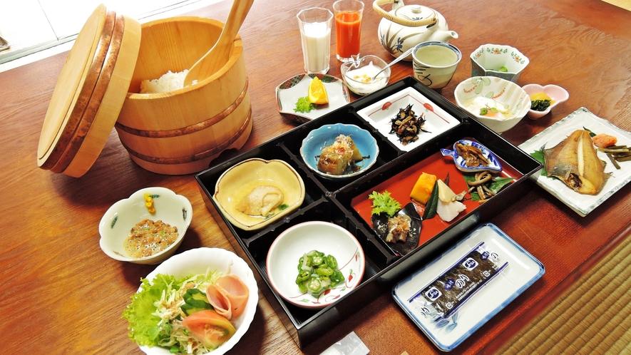 *【料理】朝食一例でございます。おばんざいたっぷり♪女将特製のボリューム和朝食をどうぞ!