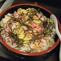 【志高】夕食メニュー例 ちらし寿司