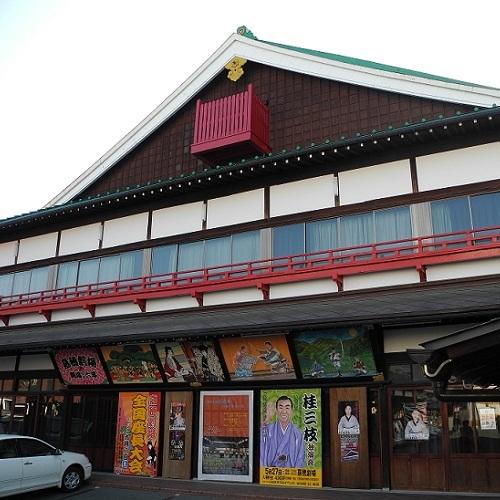 【嘉穂劇場 ホテルより車で約35分】江戸歌舞伎小屋様式 木造2階建ての劇場